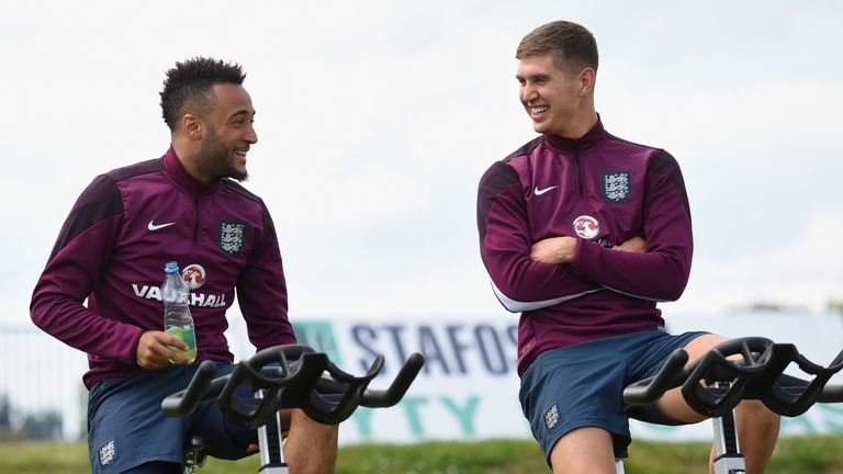 Stones has been reunited with former U21 team-mates Nathan Redmond and James Ward-Prowse in the senior squad