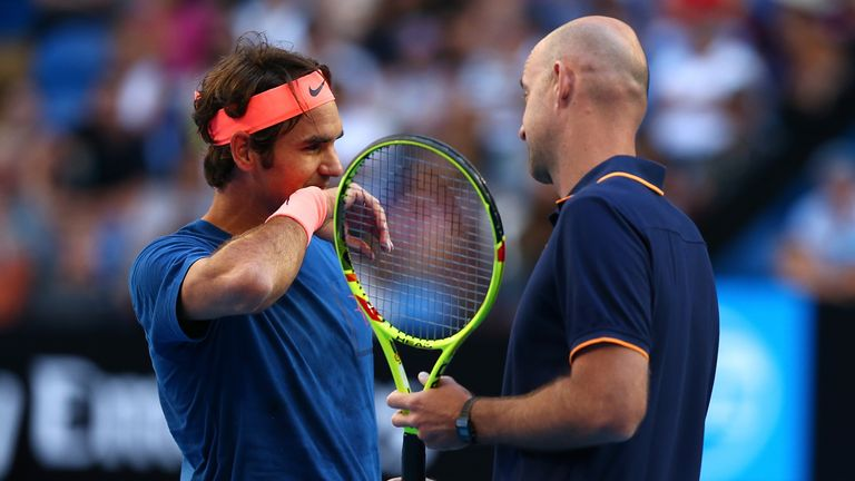 What has coach Ivan Ljubicic done with Federer's backhand?