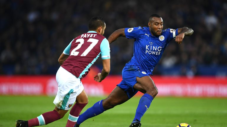 Wes Morgan is expected to be on the sidelines for Leicester
