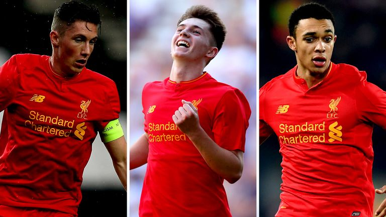 Harry Wilson, Ben Woodburn and Trent Alexander-Arnold all made first team appearances last season