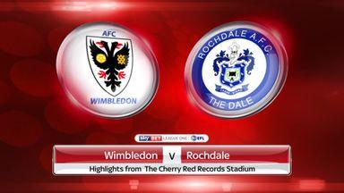 AFC Wimbledon 3-1 Rochdale