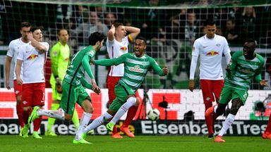 Werder Bremen beat RB Leipzig in the Bundesliga on Saturday