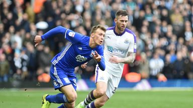 Birmingham City's Krystian Bielik in action during the Sky Bet Championship match at St Andrew's