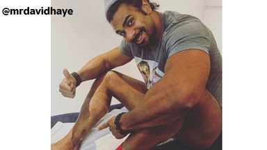 David Haye has taken to social media to update his followers after having his cast removed following Achilles surgery