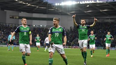Jamie Ward scored the opening goal for Northern Ireland on Sunday
