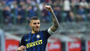 Mauro Icardi scored a first-half hat-trick for Inter Milan on Sunday
