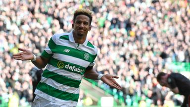 Scott Sinclair celebrates his goal to put Celtic ahead