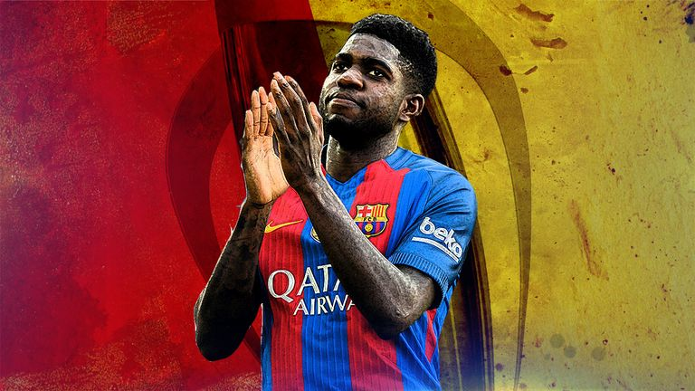 Barcelona defender Samuel Umtiti has won his first 16 games that he has started for the club