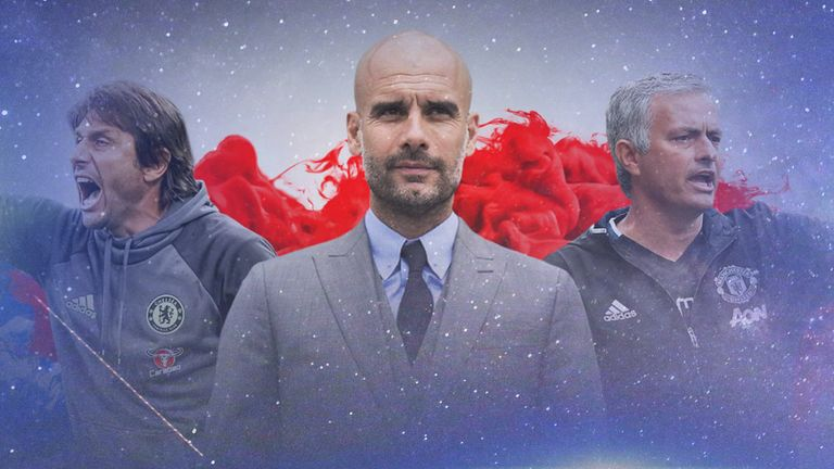 The space race: Coaches such as Antonio Conte and Pep Guardiola have focused on getting key players in the 'half spaces'.