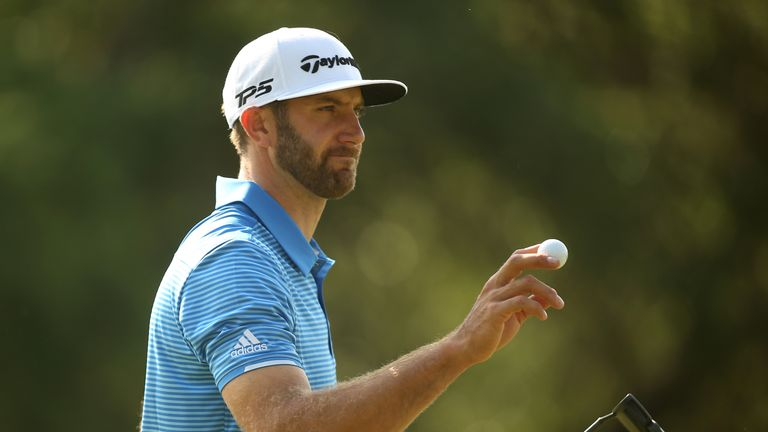 Dustin Johnson during the semifinals of the World Golf Championships-Dell Technologies Match Play
