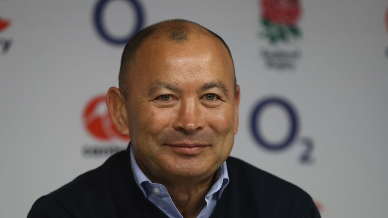 TWICKENHAM, ENGLAND - MARCH 20:  Eddie Jones, the England head coach faces the media at a conference held at Twickenham Stadium on March 20, 2017 in Twicke