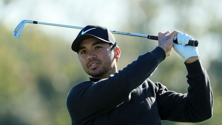 Jason Day of Australia plays his shot from the 14th tee during the first round of the Arnold Palmer Invitational