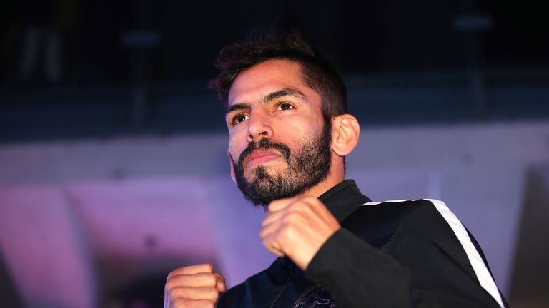 Jorge Linares during a public workout ahead of his fight against Anthony Crolla