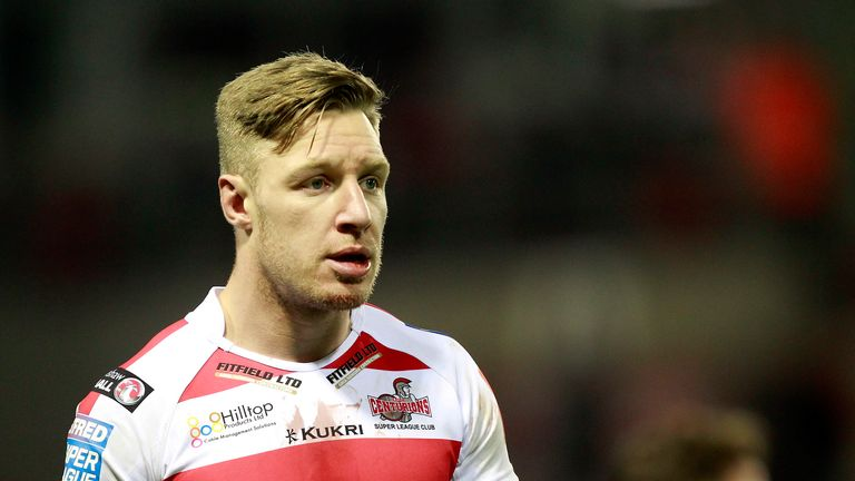 Betfred Super League - Leigh Centurions v Leeds Rhinos -Leighs Adam Higson