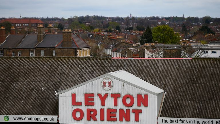 LONDON, ENGLAND - APRIL 16:  A general view of the ground ahead of the start of the Sky Bet League Two match between Leyton Orient and Dagenham & Redbridge