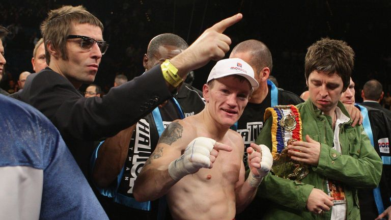 Ricky Hatton with Liam and Noel Gallagher