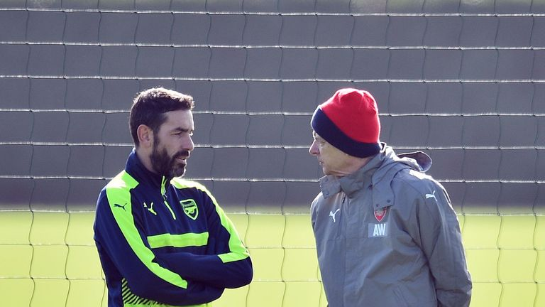 Robert Pires, Arsene Wenger, Arsenal training
