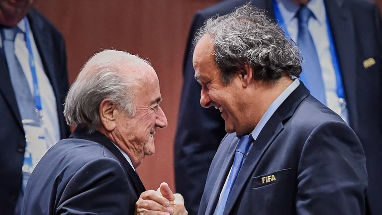 Sepp Blatter and Michel Platini are both currently banned from football