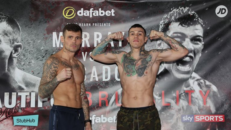 Martin Murray (left) and Gabriel Rosado were both within the middleweight limit