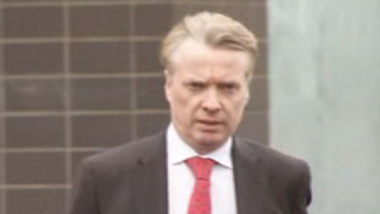 Former Rangers owner Craig Whyte arriving at court for beginning of his trial