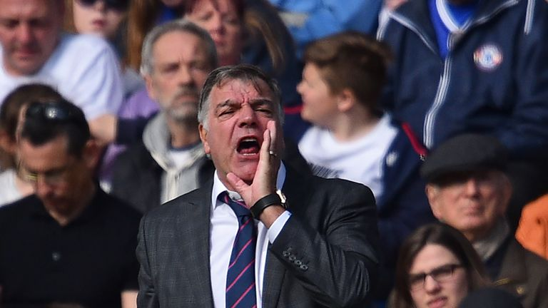 Sam Allardyce does not want his striker to get distracted in the  Sky Live match