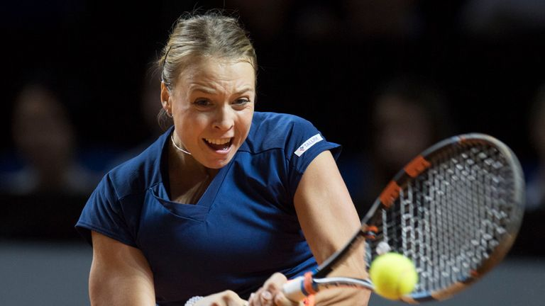 Estonia's Anett Kontaveit maintained her impressive run of results with another dominant display