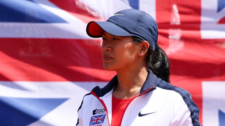 Anne Keothavong's side moved to within one victory of a place at the elite level of the competition