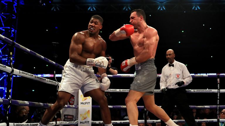 Joshua and Klitschko traded knockdowns in a thrilling encounter