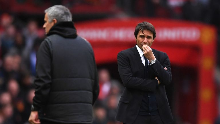 Gary Neville said Antonio Conte spent too much time stroking his chin