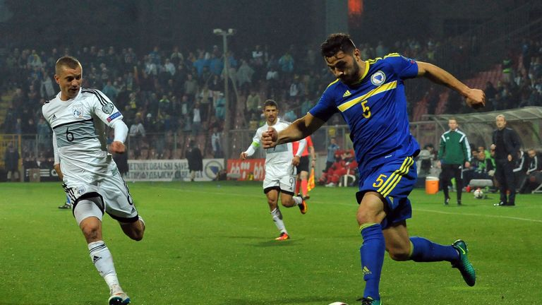 Kolasinac has won 17 caps for Bosnia and Herzegovina