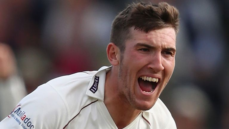 Somerset's Craig Overton reduced Lancashire to 39-5