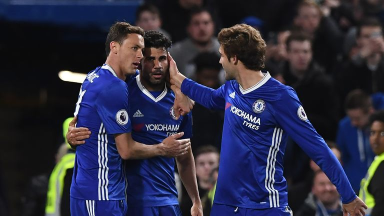 Diego Costa (centre) and Nemanja Matic (left) will not travel to the Far East