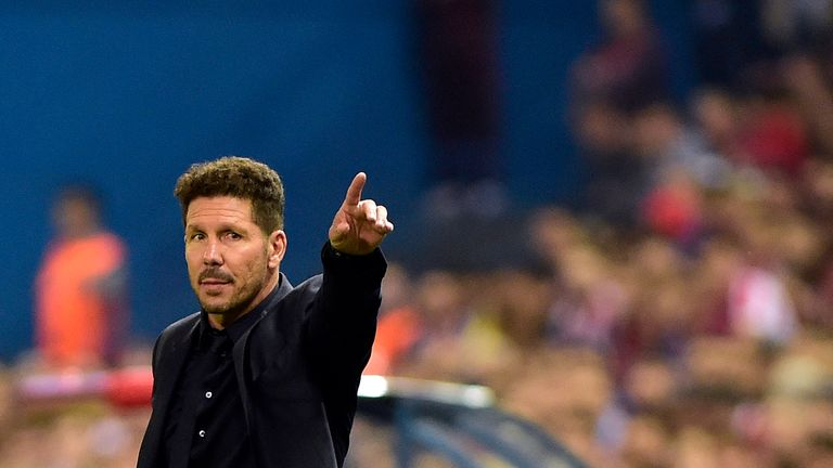 Lacazette says Diego Simeone's Atletico Madrid are a 'great team'