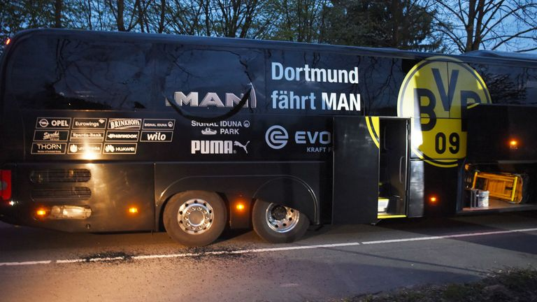 Borussia Dortmund's coach was targeted in a bomb attack