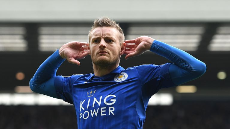Vardy holds the Premier League record for scoring in consecutive matches