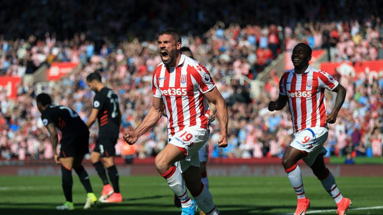 Jon Walters celebrates the opening goal
