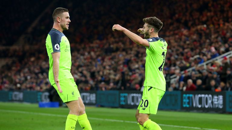 Liverpool hope to welcome Jordan Henderson (left) and Adam Lallana back in a fortnight