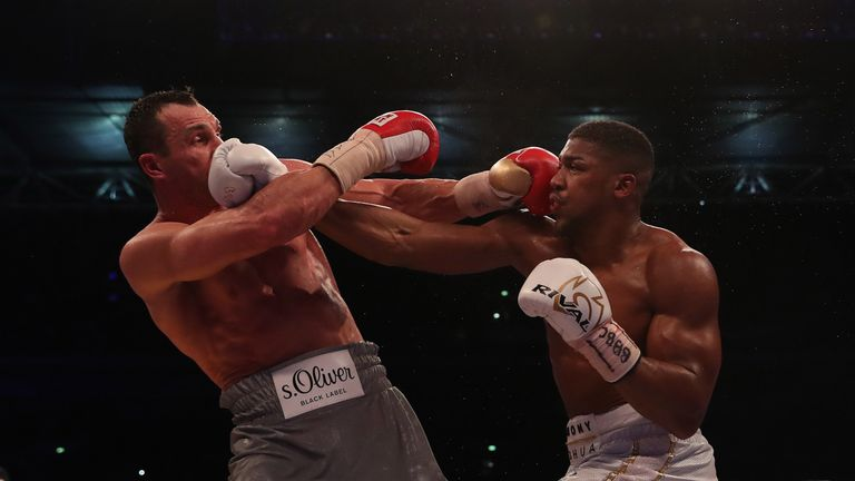 Joshua stopped Klitschko in the 11th round at Wembley