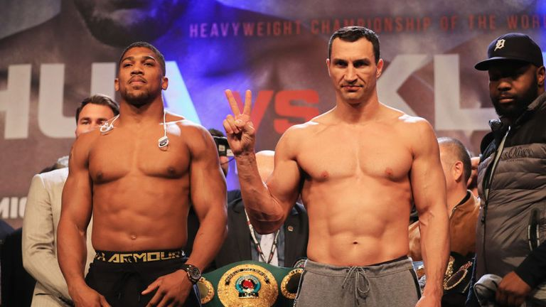 Joshua and Klitschko received different reactions from fans at Wembley Arena