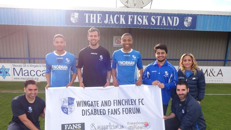 First-team players from Wingate and Finchley throw their weight behind initiative