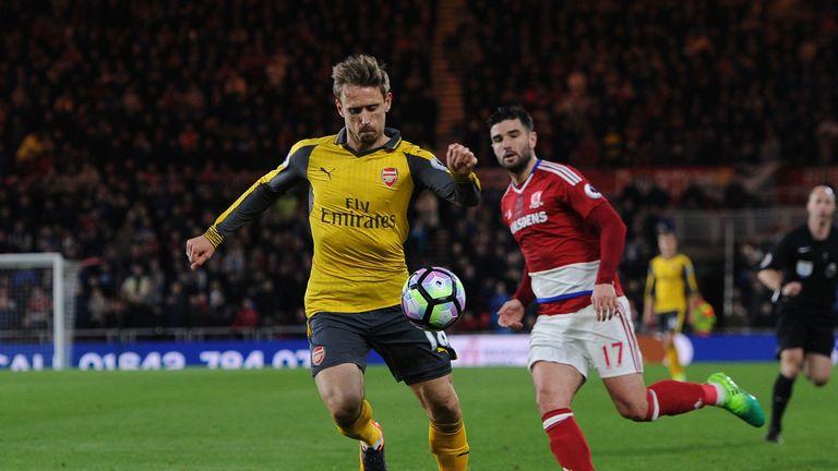 Arsenal left-back Nacho Monreal has struggled at times this season
