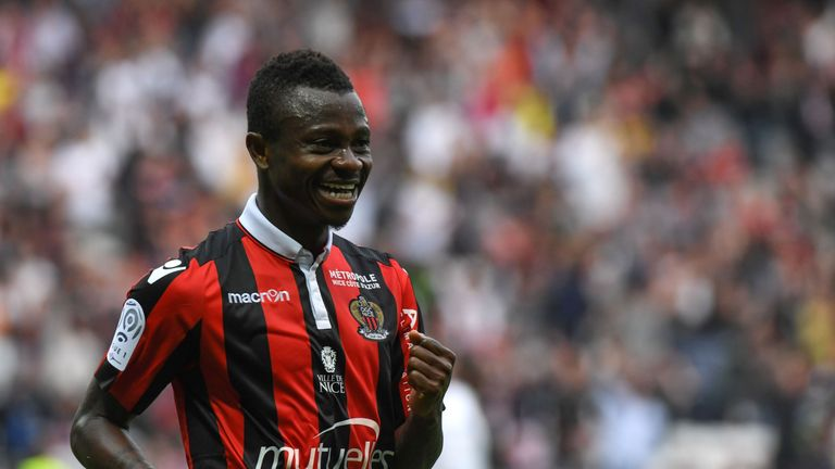 Nice Jean Michael Seri scored from the spot in his side's 3-1 win against Nancy