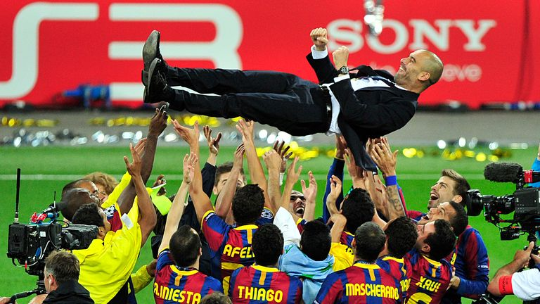 Pep Guardiola won the Champions League at Wembley as Barcelona boss in 2011