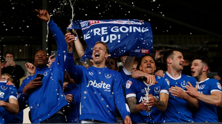 Portsmouth will compete in League One next season following promotion