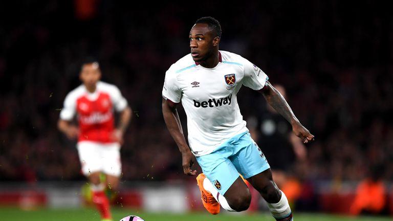 Michail Antonio in action against Arsenal