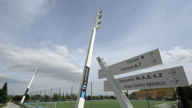 A view of one of the training pitches at Real Madrid's training ground