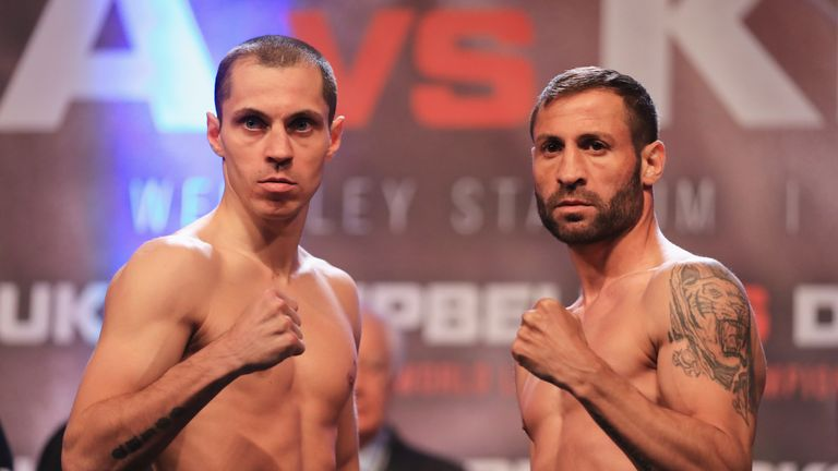 Scott Quigg (left) is targeting a world title fight against IBF champion Lee Selby