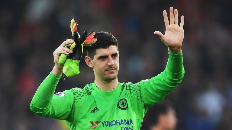 Thibaut Courtois missed Chelsea's defeat to Manchester United
