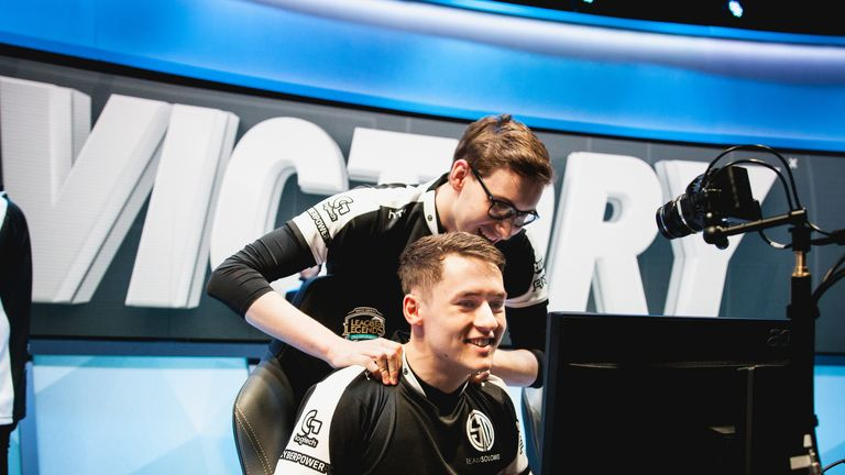"""TSM's Danish duo Soren """"Bjergsen"""" Bjerg and Dennis """"Svenskeren"""" Johnsen will be looking to pick up another North American LCS title (credit LoLesports)"""