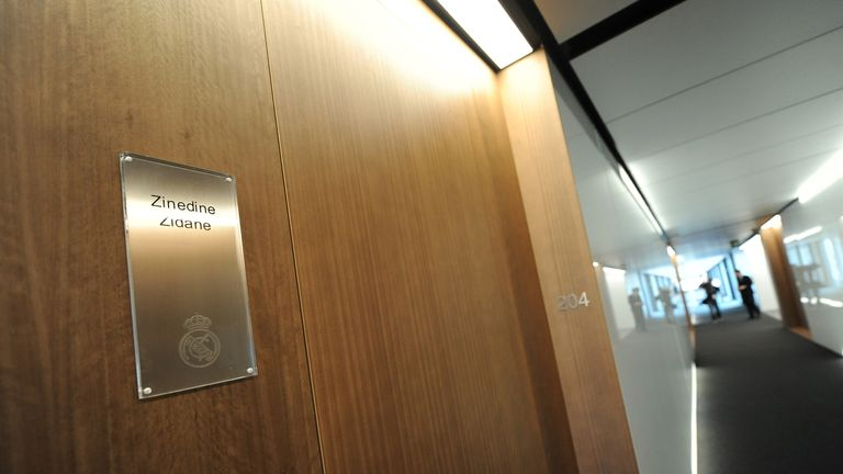 Zinedine Zidane's bedroom is at one end of the first-team corridor
